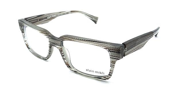 6dc10be33d Amazon.com  Alain Mikli Rx Eyeglasses Frames A03026 3867 53x16 Grey ...