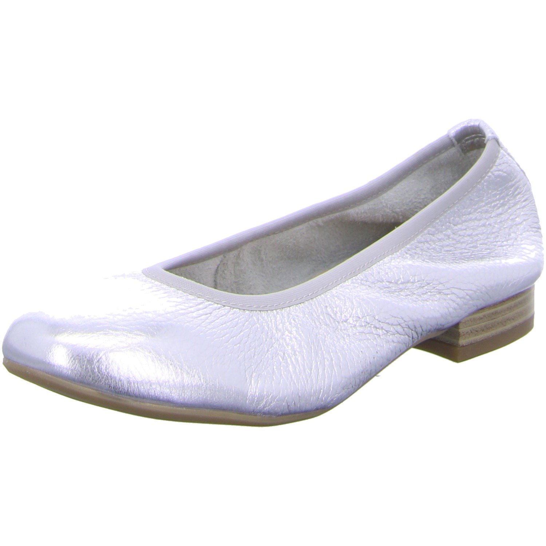 CAPRICE Hot Womens Casual Ballerina Shoes 8 Silver: Amazon