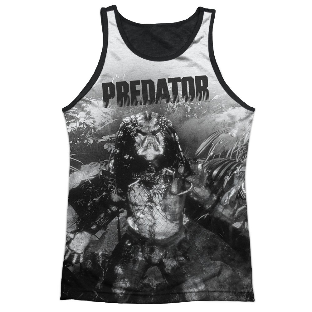 Predator in The Jungle Mens Tank Top Shirt with Black Back Trevco