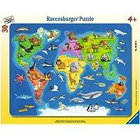 Ravensburger - 06641 - Puzzle Cadre - Animaux du Monde -  30 Pièces
