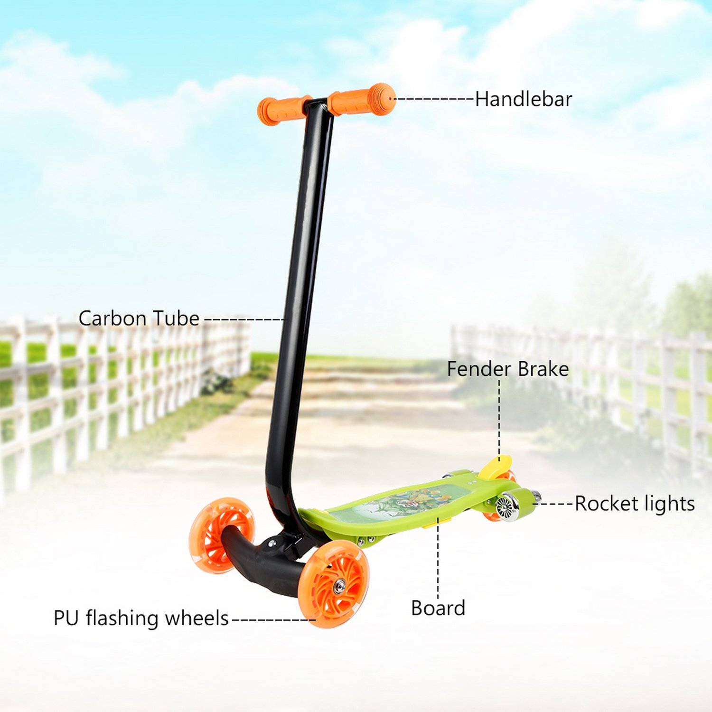 Amazon.com : Jaketen Kick Scooter 3 Wheels with LED Flashing ...