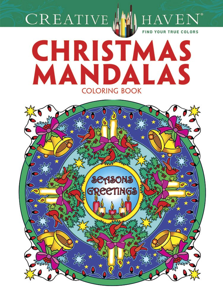 creative haven christmas mandalas coloring book creative haven coloring books marty noble 8601411318382 amazoncom books