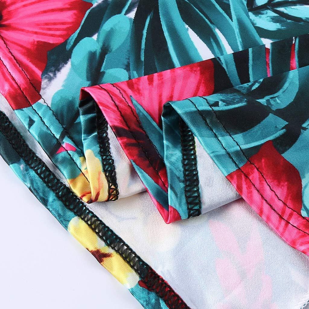 KOBAY Robe boh/ème imprim/ée sans Manches pour Femme Maxi Dress Robe d/ét/é d/écontract/ée imprim/ée sans Manches /à Manches Longues et Robe d/ét/é pour Femme Schmidz
