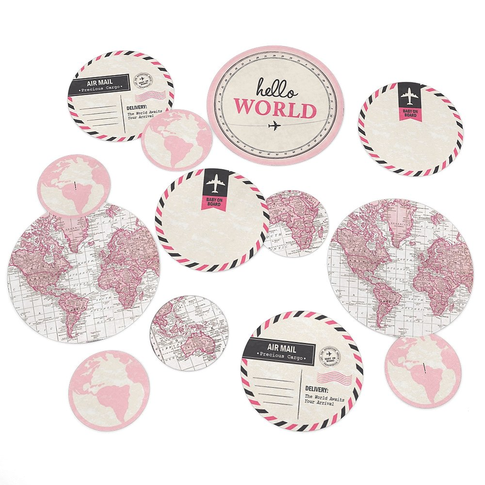 Pink Big Dot of Happiness Precious Cargo Baby Shower Giant Circle Confetti Party Decorations Large Confetti 27 Count