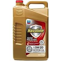 Chevron Havoline 5W20 High Mileage Synthetic Blend Motor Oil 5-Quart Bottle