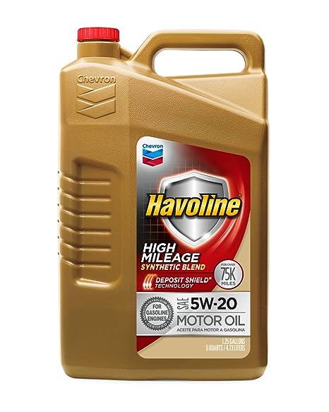 Amazon.com: Havoline (223680485-3PK) 5W-20 Aceite de motor ...