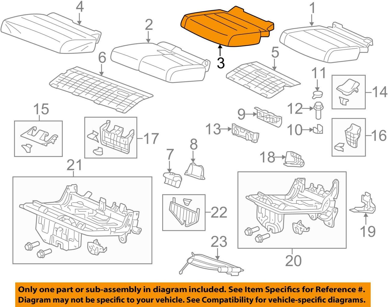Rear Honda Genuine 82131-TK8-A01ZB Seat Cushion Trim Cover Right