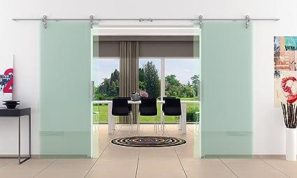 2 palas correderas de cristal de la puerta en forma de aspecto abierto y ruedas ...