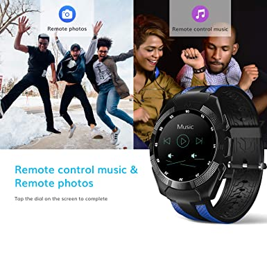 Smart Watch,Wonbo Bluetooth Touchscreen Waterproof Sports Smartwatch, Music Player & Fitness Heart Rate Tracker Sleeping Monitor,Make Call/SNS ...