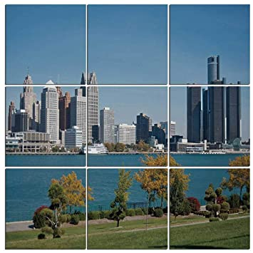 Sunny day home office Me Yet Detroit Decor Canvas Wall Art9 Piecesindustrial City Center Shoreline River Scenic Panoramic Can Stock Photo Amazoncom Detroit Decor Canvas Wall Art Pieces Industrial City