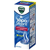 Vicks VapoSteam Medicated Liquid with Camphor, a Cough Suppressant, 8 oz. – VapoSteam Liquid Helps Relieve Coughing, For Use in Vicks Vaporizers and Humidifiers