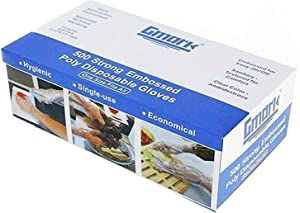 Gmark Disposable Gloves 500 Pcs, Plastic Gloves for Kitchen Cooking Food Handling Cleaning, Powder and Latex Free GM1070A