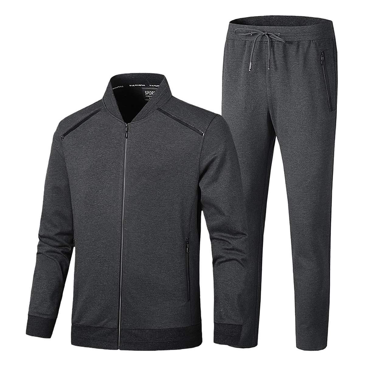 PRIJOUHE Men's Tracksuit Fitness Sport Suits Gym Sports 2 Piece Joggers Sweatpants Sets Gym Jogging Tracksuits by PRIJOUHE