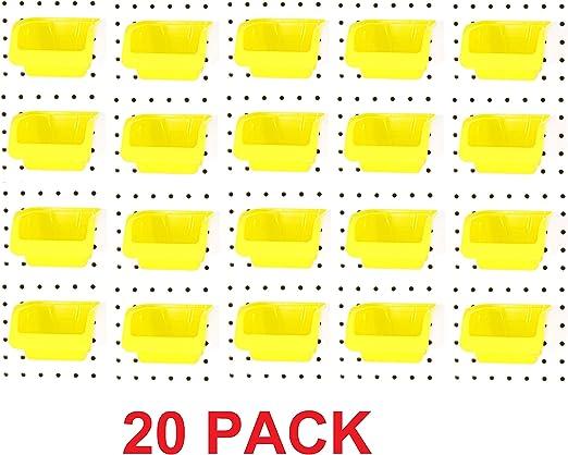JSP Pegboard Bin Peg Board Bins Parts Storage Tool Workbench Organizer 5 PACK