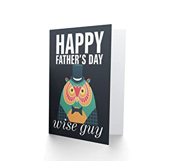 amazon com wee blue coo ltd happy fathers day wise guy owl blank