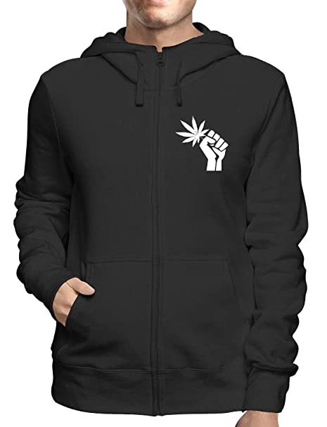 T-Shirtshock Sudadera con Capucha Zip Negro DEC0266 Revolution Marihuana: Amazon.es: Ropa y accesorios