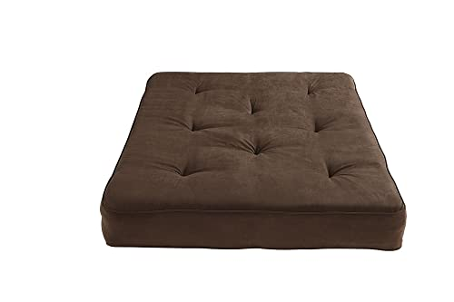 Medium image of dhp 8 inch independently encased coil premium futon mattress full size chocolate