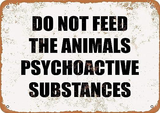 MiMiTee Do Not Feed The Animals Cartel De Chapa Placa Metal ...