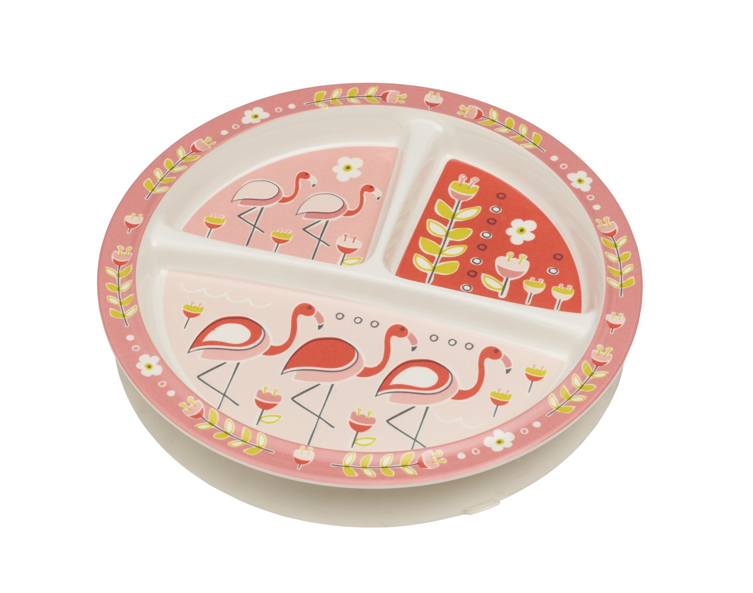 Sugarbooger Divided Suction Plate, Flamingo A1234