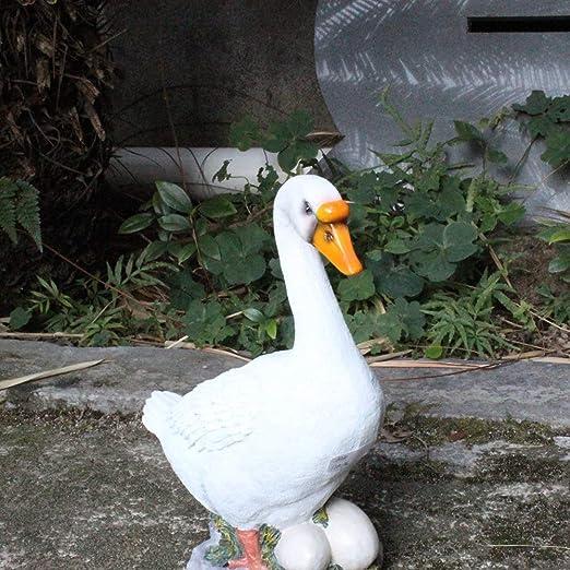 XUEMO Jardín Estatuas Adornos para el césped, Pato Lindo Escultura Animal Patio al Aire Libre Decoraciones de Patio, Regalo de inauguración de la casa: Amazon.es: Jardín