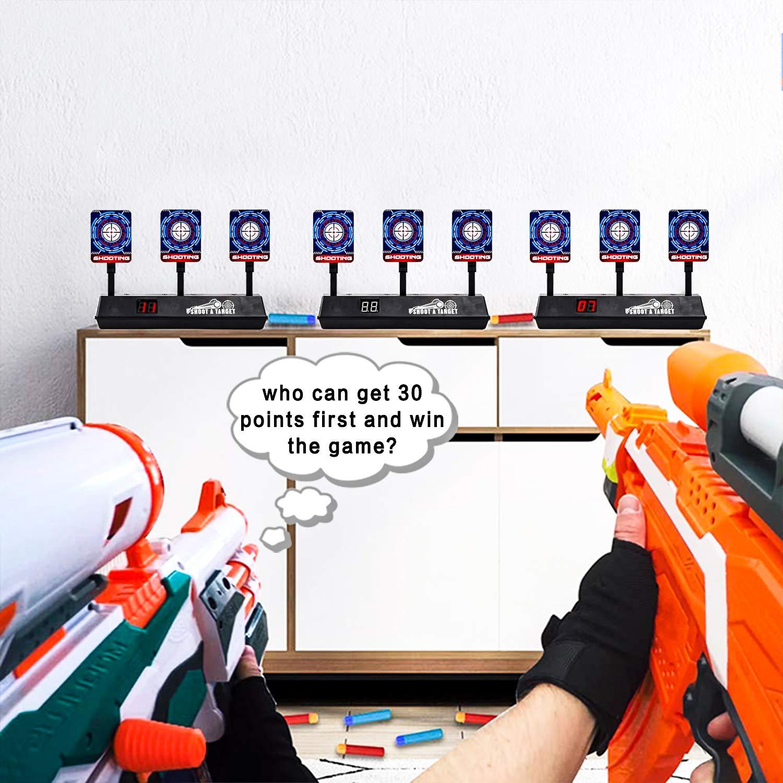 Amazon.com: SWEE Electric Scoring Auto Reset Shooting Digital Target for Nerf Guns Blaster Elite/Mega/Rival Series: Toys & Games