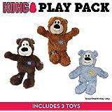 KONG Wild Knots Bear Dog Toy, Medium/Large Colours Vary x 3
