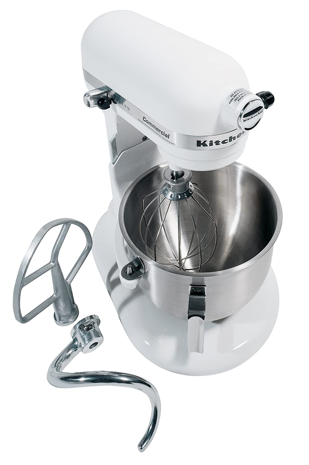 Amazon.com: KitchenAid KM25G0XWH Commercial Series 5 Quart Stand Mixer,  White: Electric Stand Mixers: Kitchen U0026 Dining