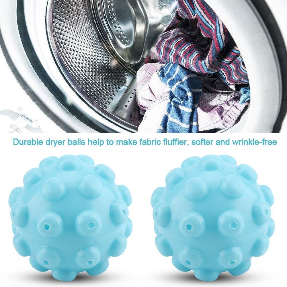 Dewin Palline per asciugatrice 2 Pezzi//Set Accessori per Palline per ammorbidenti Lavaggio Asciugatura Palline riutilizzabili in PVC Blu