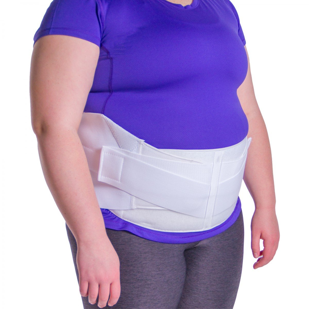 BraceAbility Obesity Belt | Stomach Holder Brace to Lift your Hanging Belly, Abdominal Pannus Sling Tummy Girdle & Back Support for Plus Size Men and Women