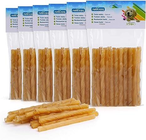 Nobleza - Palos para Perros 100% Natural, 125mm x 10mm (120 Unidades), Palitos Piel Perro Snack, bajo Contenido graso, Alta en proteína, no se Usan ...