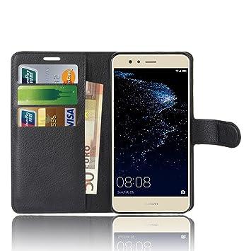 Anzhao Huawei P10 Lite Funda Funda de Cuero Piel Carcasa con ...