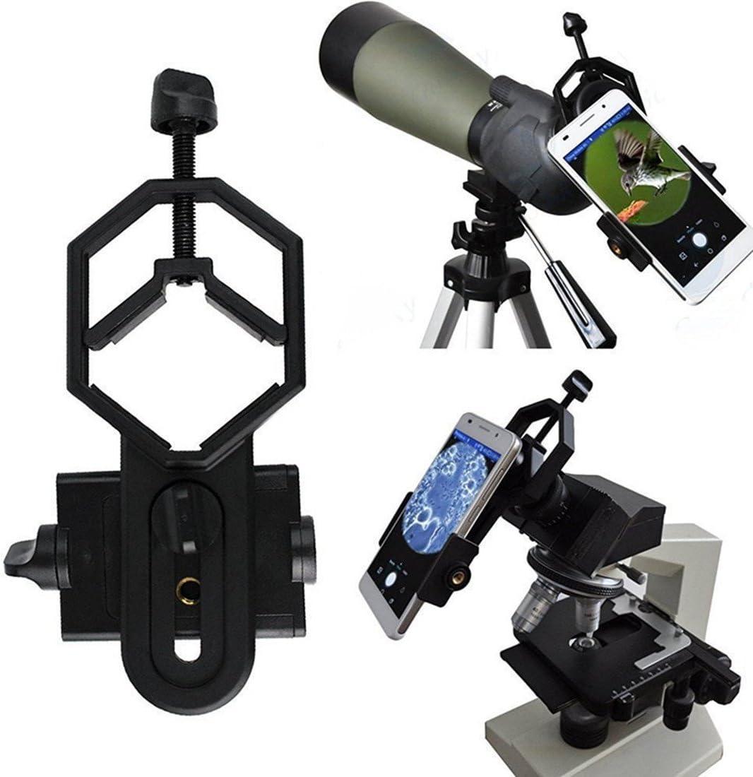 Vizzlema Montaje del Adaptador del teléfono móvil para el Alcance del Rifle Cámara Digiscoping Telescopio Binocular Microscopio y monocular 120g