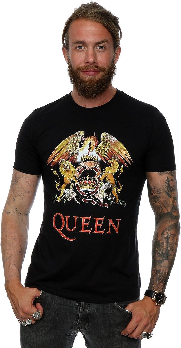 Queen hombre Crest Logo Camiseta