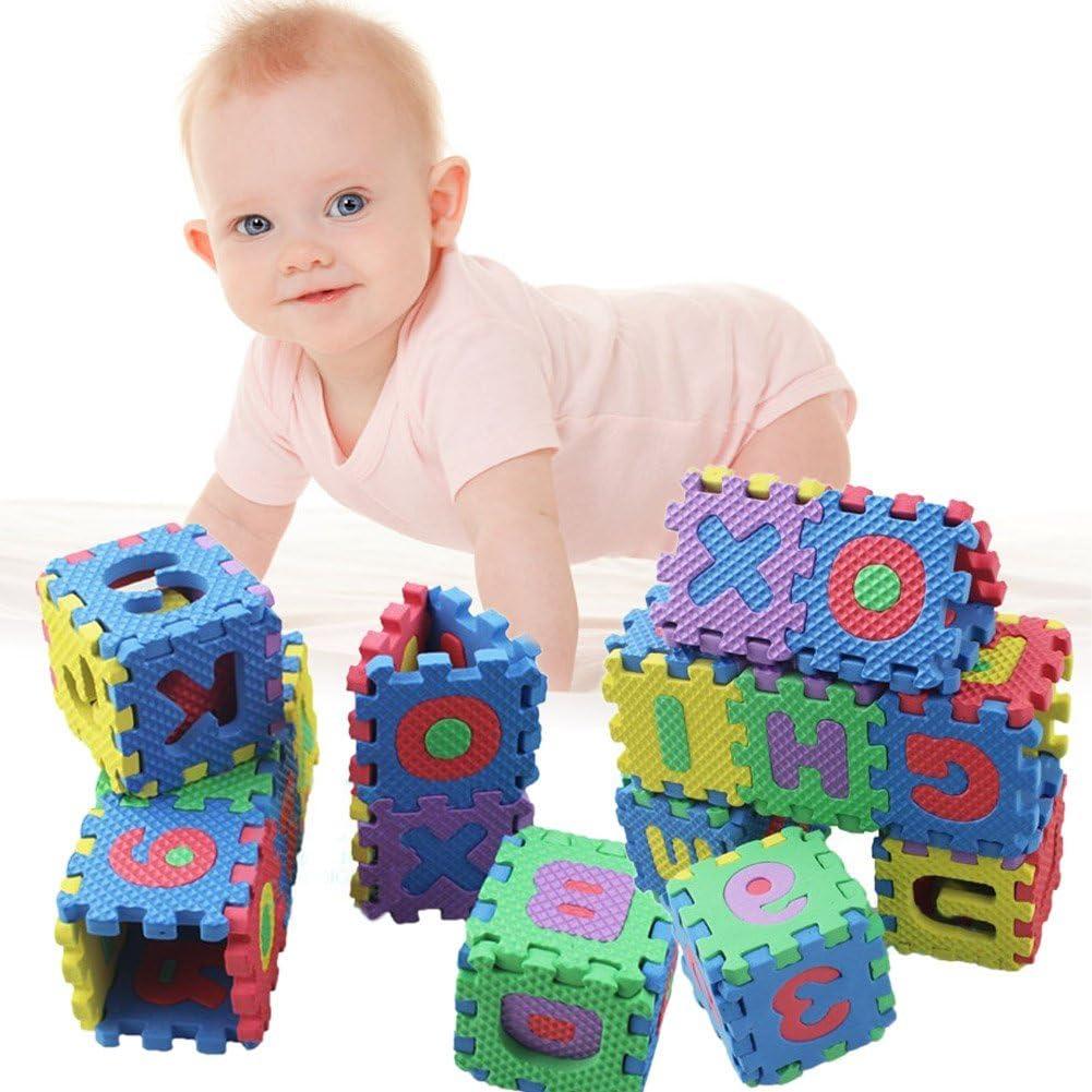 Yevison 36PCS//Set Alphabet Numerals EVA Foam Baby Kids Play Mat Educational Toy Soft Mats Durable and Useful