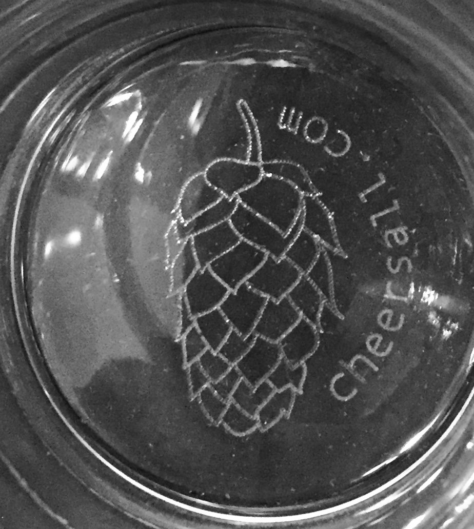 Ultimate Pint - Perfect Pint Glass to Explode Flavors and Maximize Beer Enjoyment - Exclusive Nucleated Hop Leaf Over 100 Points of Nucleation by Cheers All (Image #4)