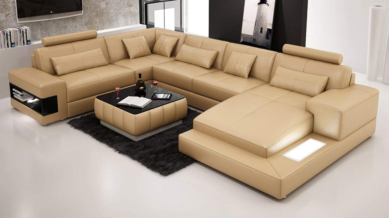 Amazon.com: My Aashis Designer Modern Large Leather Sofa ...