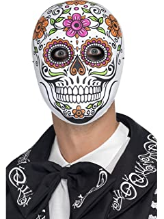 Day of the Dead fnt Adult Mexican Catrin and Catrina Sugar Skull Latex Masks