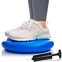 URBNFit Balance Disc-Stability Wobble Cushion-Lumbar Support for Desk and Office Chair, Lower Back Pain Relief and Support-Kid's Wiggle Seat for Classrooms-Home Gym Workout Equipment - Pump Included