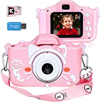 Langwolf Kids Camera for Girls, Digital Camera for Kids Toys Children Selfie Photo Video Camera with 32GB SD Card, Gifts…