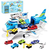 Airplane Toy , Transport Cargo Car Toy Play Set for 3 4 5 6 7 Year Old Boy and Girls, Take Apart Plane Aeroplane Toys, Gift f