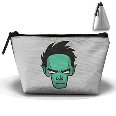 Unisex Stylish And Practical Green Face Horror Vampire Cartoon Trapezoidal Storage Bags Handbags well-wreapped