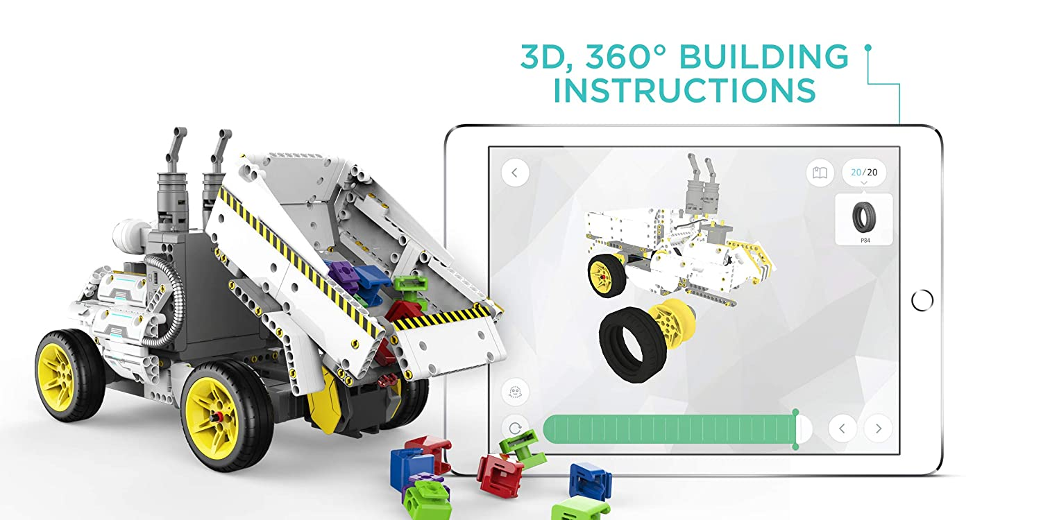 Overdrive Kit App-Enabled Building and Coding STEM Learning Kit UBTECH JIMU Robot Builderbots Series 410 Parts and Connectors
