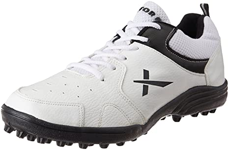 ee2e9cc63f9 Buy Vector X Cricket Studs Sports Shoes - White Black Online at Low Prices  in India - Amazon.in