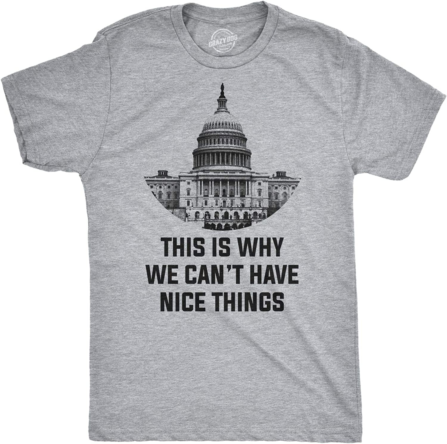 Crazy Dog T-Shirts This is Why We Can't Have Nice Things T Shirt Funny Anti Trump Political Tee