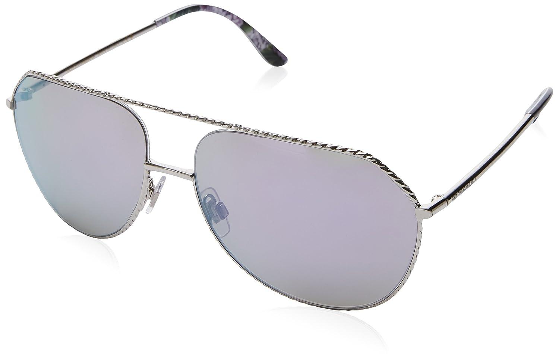 Dolce /& Gabbana Womens DG2191 DG//2191 05//25 Silver Pilot Sunglasses 59mm