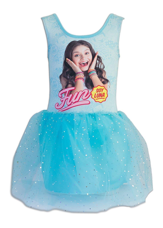 Soy Luna Vestido Para Niña Azul Claro 6 Años Amazones