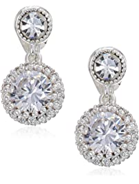 97a432b8d Napier Women's Cubic Zirconia Drop Clip-On Earring, Crystal Tone