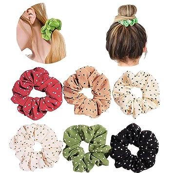Hair Scrunchies,Tulle Scrunchies,Hair Accessory Ponytail Hair Tie,Scrunchy,Polka Dot