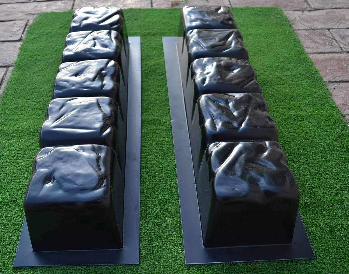 ClothHouse 2 Pi/èces Bord Pierre De B/éton Moules R/éutilisables Bordures Mold Border Maker Fou Pavage Plastique ABS