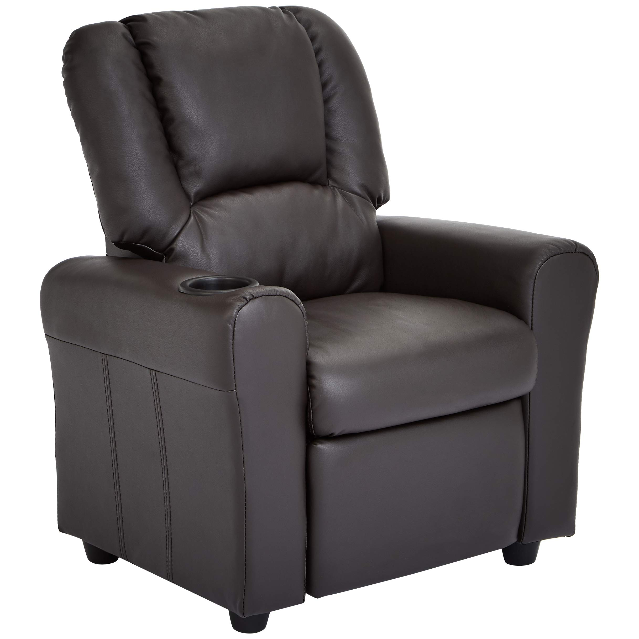 JC Home Bilbao Kids Recliner with Cup Holder and Headrest, Mocha Brown by JC Home